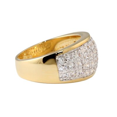 Palm Beach Jewelry Gold Plated Cubic Zirconia Pave Ring