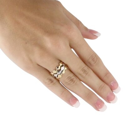 Palm Beach Jewelry Stackable Zigzag Ring (Set of 3)