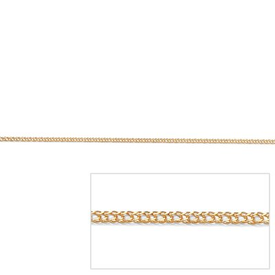 Gold Double Curb-Link Necklace