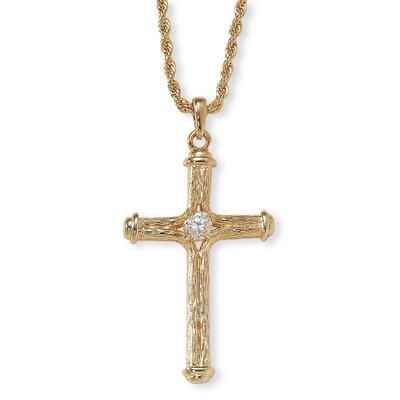 Palm Beach Jewelry Goldtone Crystal Cross Pendant