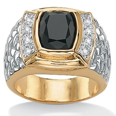 Men's Onyx 18K / Sterling Silver Ring