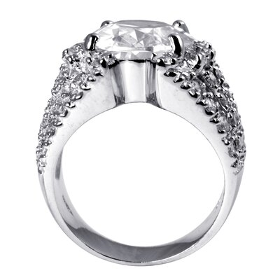 Palm Beach Jewelry Cubic Zirconia Silver Sparkler Ring
