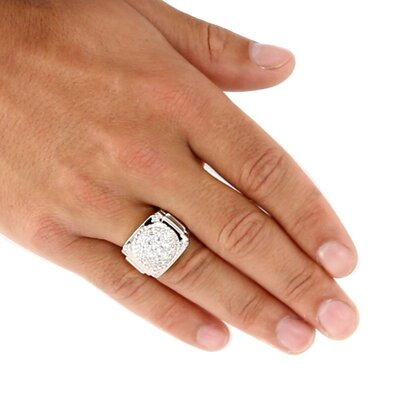 Palm Beach Jewelry Men's DiamonUltra and Trade Cubic Zirconia Ring