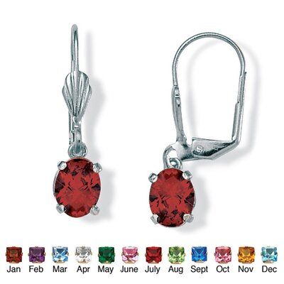 Birthstone Pierced Earrings