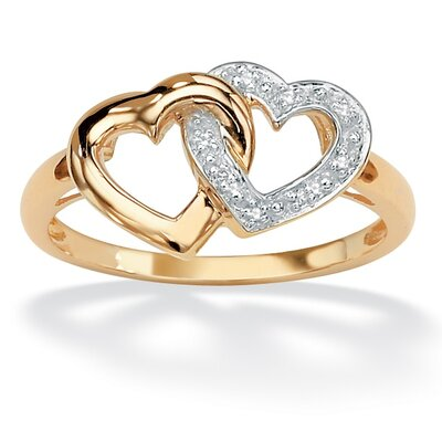 Palm Beach Jewelry Diamond Accent Interlock Heart Ring