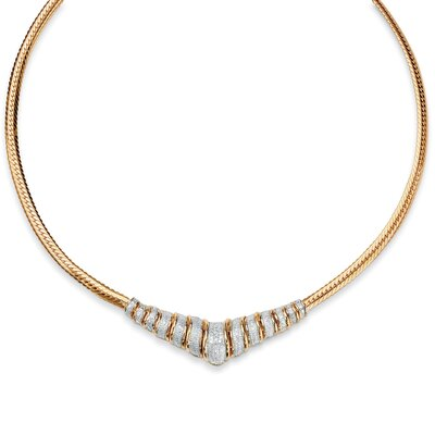 Palm Beach Jewelry Diamond Chevron Necklace