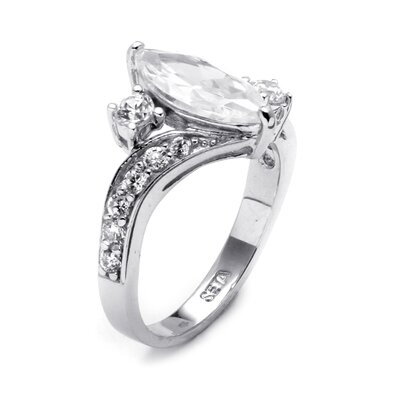 Palm Beach Jewelry Marquise / Round Cubic Zirconia Ring