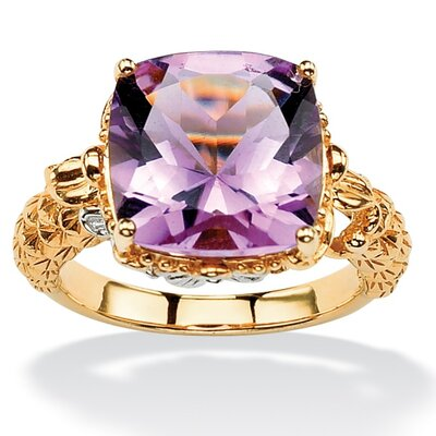 Palm Beach Jewelry Rose Amethyst Ring