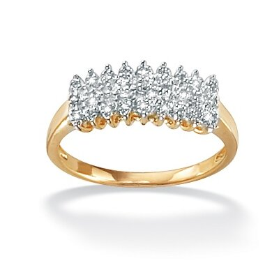 Palm Beach Jewelry Diamond Peak Ring