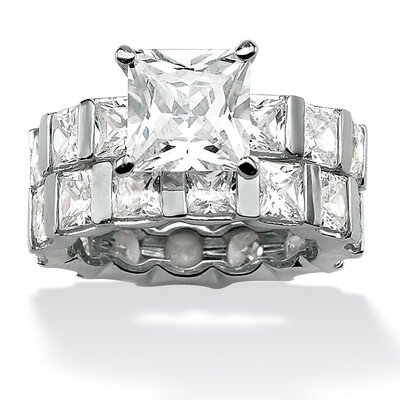 Palm Beach Jewelry Princess-Cut Cubic Zirconia Wedding Ring Set