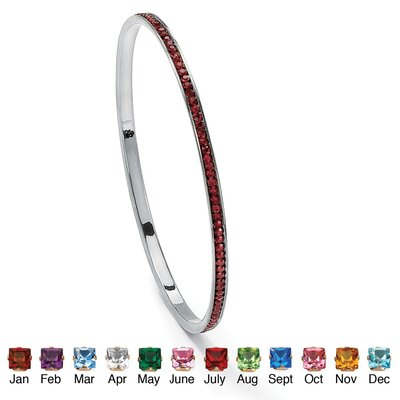 Palm Beach Jewelry Birthstone Eternity Bangle Bracelet
