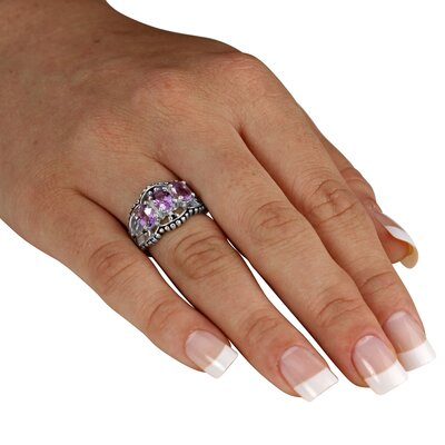 Palm Beach Jewelry Amethyst Silver Ring