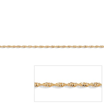 Palm Beach Jewelry Gold Rope Chain Necklace