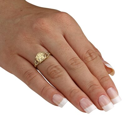 Palm Beach Jewelry 10K Gold Angel Ring
