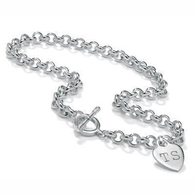 Sterling Silver Rolo-Link Necklace