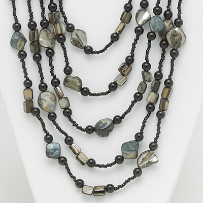 Brass Multi-Strand Beaded Necklace
