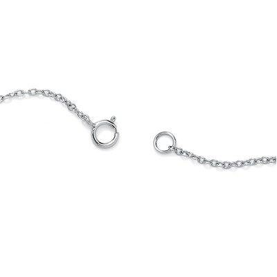 Palm Beach Jewelry Sterling Silver Multi-Heart Ankle Bracelet