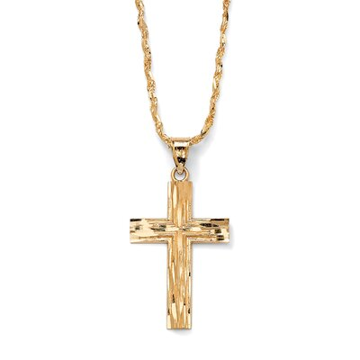 Palm Beach Jewelry Cross Diamond Pendant