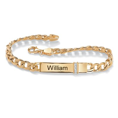 Men's Diamond Accent I.D. Bracelet