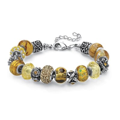 Palm Beach Jewelry Crystal Charm Bracelet