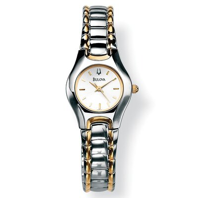 Palm Beach Jewelry Bulova Silver Colored Watch