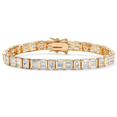 Palm Beach Jewelry Cubic Zirconia Tennis Bracelet
