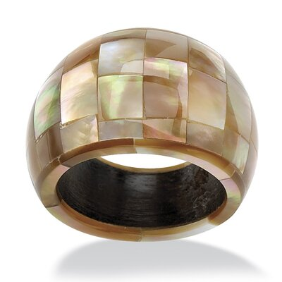 Palm Beach Jewelry Dome Shaped Mother of Pearl Ring