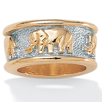 Palm Beach Jewelry Tutone Elephant Ring