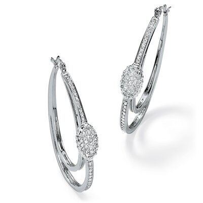 Palm Beach Jewelry Round Cut Cubic Zirconia Hoop Earrings