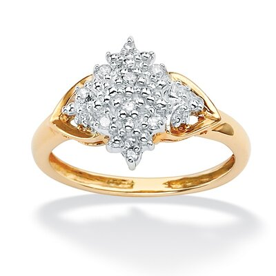 10k Yellow Gold Marquise Cut Diamond Ring