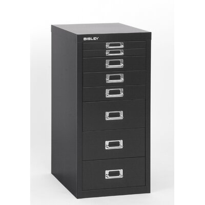 Bisley Eight-Drawer Under-the-Desk Steel Storage Cabinet