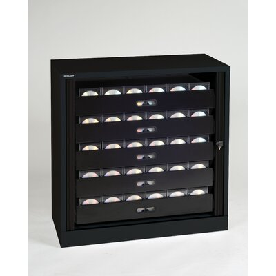 Library Style 5 Drawer Multimedia Cabinet