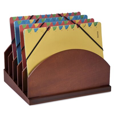 Bindertek Dealer Solutions Stack and Style Wood Step-Up Project Management File Caddy