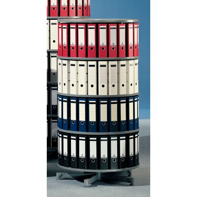 "Bindertek Dealer Solutions Spin-N-File 32"" 4 Tier Rotary Binder Storage Carousel"