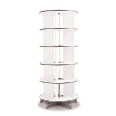 """Bindertek Dealer Solutions Spin-N-File 32"""" 5 Tier Rotary Binder Storage Carousel"""