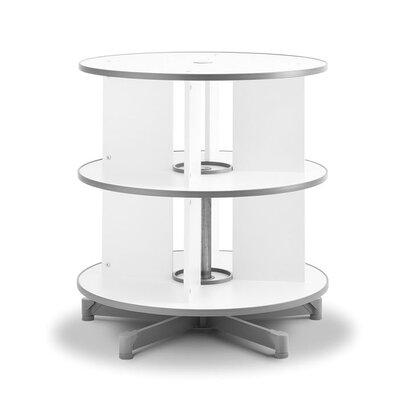 """Bindertek Dealer Solutions Spin-N-File 32"""" 2 Tier Rotary Binder Storage Carousel"""