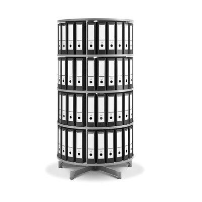 """Bindertek Dealer Solutions Spin-N-File 32"""" 4 Tier Rotary Binder Storage Carousel"""