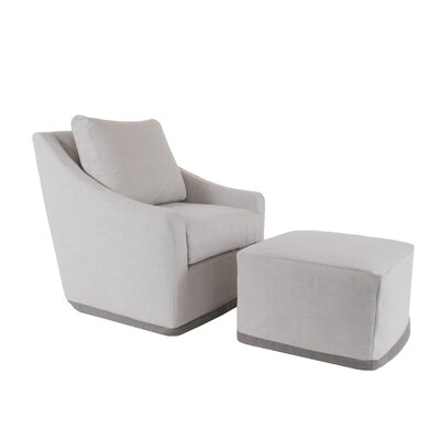 Selena Glider and Ottoman with Slipcover