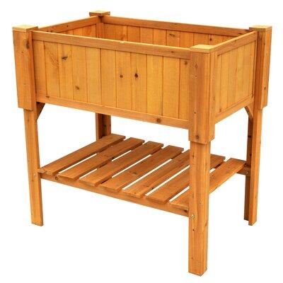 Leisure Season Wood Raised Planter Box & Reviews | Wayfair