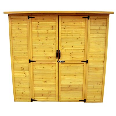 "Leisure Season 6'3"" W x 3'1"" D Wood Lean-To Shed"