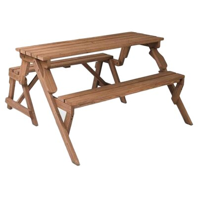 Leisure Season Folding Picnic Table And Bench Reviews Wayfair