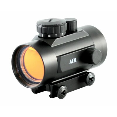 Aim Sports Inc 1 X 42 Dot Sight Weaver Base with Flip-Up Lens