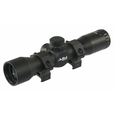 Aim Sports Inc 4X32 Compact Rangfinder Scope with Rings