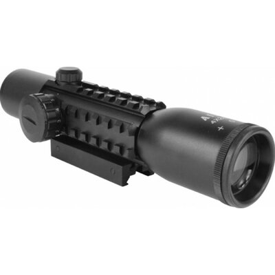 Aim Sports Inc 4X28 Dual Illuminated Scope with 3 Integral Weaver Rails