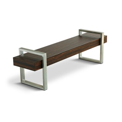 Gus* Modern Return Wooden Bench