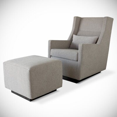 Gus* Modern Sparrow Glider and Ottoman