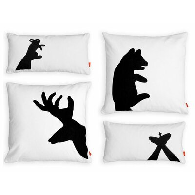 Shadow Puppets Graphic Down Pillows (Set of 4)