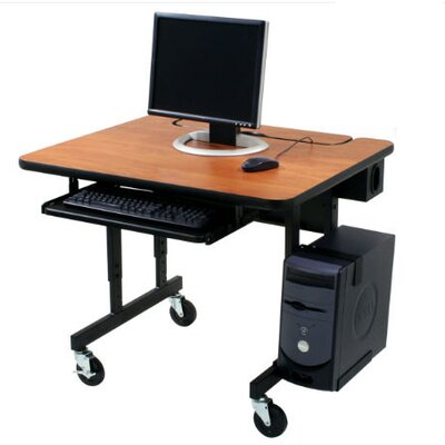 Paragon Furniture Classic Flip Top Workstation Computer Table