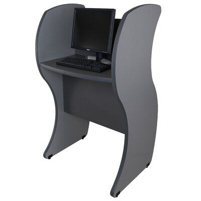 Paragon Furniture Computer Kiosk with Wave Panels
