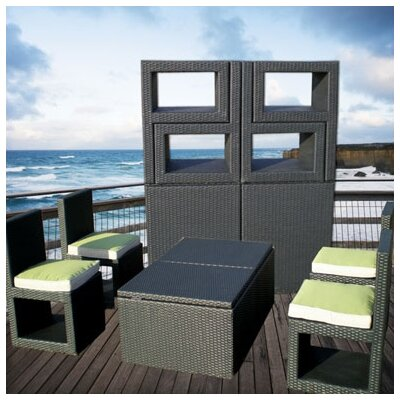 Deeco Deck-Cetra 6 Piece Lounge Seating Group with Cushions